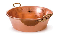 Mauviel M'passion Hammered Copper Jam Pan
