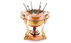 Mauviel M'passion Copper Fondue Set