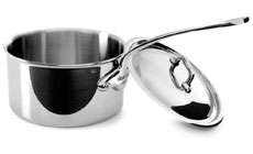 Mauviel M'cook Stainless Steel Saucepan
