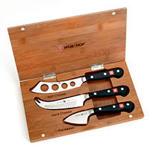 Wusthof Classic Cheese Knife Set with Bamboo Case