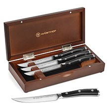 Wusthof Classic Ikon Steak Knife Sets with Walnut Case