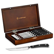 Wusthof Classic Ikon Steak Knife Set with Walnut Case