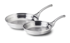 Calphalon Contemporary Stainless 8 & 10-inch Skillet Set