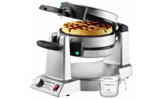 Waring Pro Stainless Steel Double Flip Belgian Waffle Maker