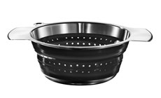 Rosle 3.6-quart Stainless Steel & Silicone Collapsible Colander
