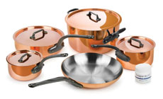 Mauviel M'heritage 250C Copper Cookware Set