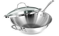 Calphalon Tri-Ply Stainless Stir Fry Pan with Lid