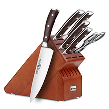 Wusthof Ikon Blackwood 7-piece Deluxe Knife Block Sets