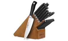 Wusthof Grand Prix II 15-piece Knife Block Sets with Stamped Steak Knives
