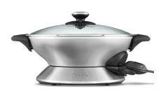 Breville Hot Wok 14-inch Stainless Steel Nonstick Electric Wok