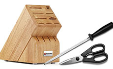 Wusthof Create-A-Set Knife Block, Steel & Shears