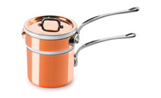 Mauviel M'heritage 150S Tin Lined Copper Bain Marie Double Boiler