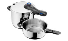 WMF Perfect Plus 6.5 & 3-quart Stainless Steel Pressure Cooker Set
