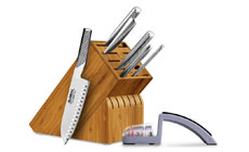 Global Bamboo Knife Block Set