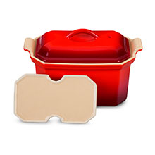 Le Creuset Stoneware ¾-quart Heritage Pate Terrine with Press
