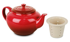Le Creuset Stoneware 22-ounce Small Teapots with Infuser