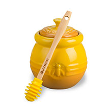 Le Creuset Stoneware 16-ounce Honey Pot with Silicone Honey Dipper