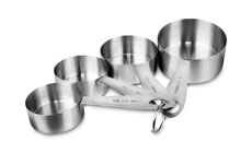 Chicago Metallic Stainless Steel Measuring Cup Set