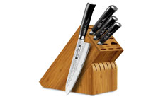 Tamahagane San Tsubame Micarta 5-piece Hammered Knife Block Sets