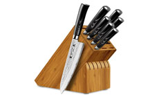 Tamahagane San Tsubame Micarta 8-piece Hammered Knife Block Sets