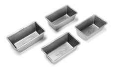 USA Pans Nonstick Aluminized Steel Mini Loaf Pan Set