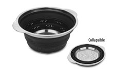 Silicone & Stainless Steel Collapsible Colander