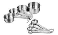 Chicago Metallic Stainless Steel Measuring Cup & Spoon Set