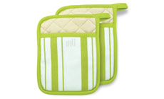 MUKitchen 2-piece Stripe Cotton Potholder Sets
