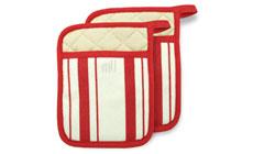 MUKitchen 2-piece Stripe Cotton Potholder Set