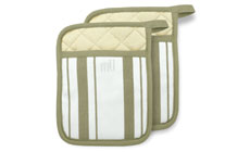 MUKitchen 2-piece Stripe Cotton Potholder Set