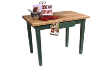 John Boos 48 x 24-inch Country Work Tables with Utensil Drawer