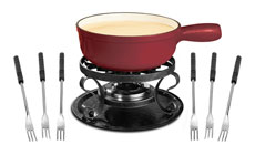 Swissmar 9-piece Lugano Cast Iron Fondue Sets