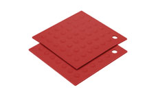 2-piece Silicone Pot Holder/Trivet Set