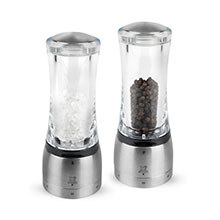 Peugeot Daman u'Select Acrylic & Stainless Steel Salt & Pepper Mill Sets