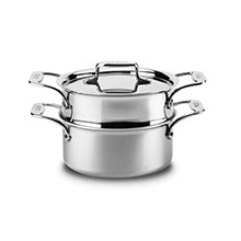All-Clad d5 Brushed Stainless Casserole with Steamer Insert