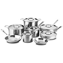 All-Clad d5 Brushed Stainless Cookware Set