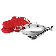 All-Clad d5 Brushed Stainless All-Purpose Braiser Set