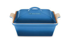 Le Creuset Stoneware 2½-quart Heritage Covered Square Casseroles