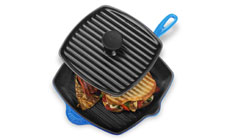 Le Creuset Cast Iron 2-piece Panini Press & Skillet Grill Sets