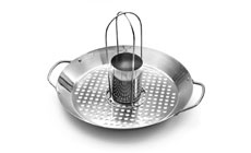 Outset 2-in-1 Stainless Steel Chicken Roaster & Grill Skillet