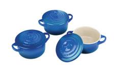 Le Creuset Stoneware 3-piece Mini Cocotte Sets
