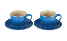 Le Creuset Stoneware 4-piece Cappuccino Cup & Saucer Sets