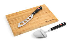 Wusthof Classic Soft Cheese Knife, Plane & Board Set