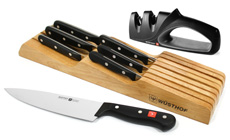 Wusthof Gourmet In-Drawer Knife Set with Bonus Knife Sharpener