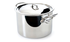 Mauviel M'cook Stainless Steel Single-Ply Stock Pot