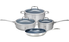 Zwilling J.A. Henckels Spirit Stainless Steel Ceramic Nonstick Cookware Set