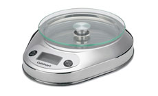 Cuisinart PrecisionChef Glass Platform Bowl Electronic Kitchen Scale