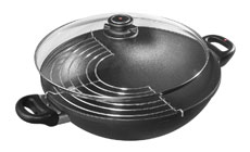 Swiss Diamond Nonstick Induction Wok with Lid & Rack