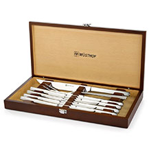 Wusthof Stainless Steel Carving & Steak Knife Set with Presentation Chest