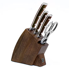 Wusthof Ikon Blackwood 5-piece Studio Knife Block Set